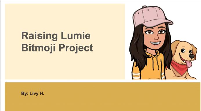 Raising Lumie Bitmoji Project